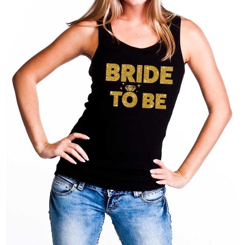Uitgelezene Bride to be gouden vrijgezellenfeest tanktop / mouwloos shirt YM-11